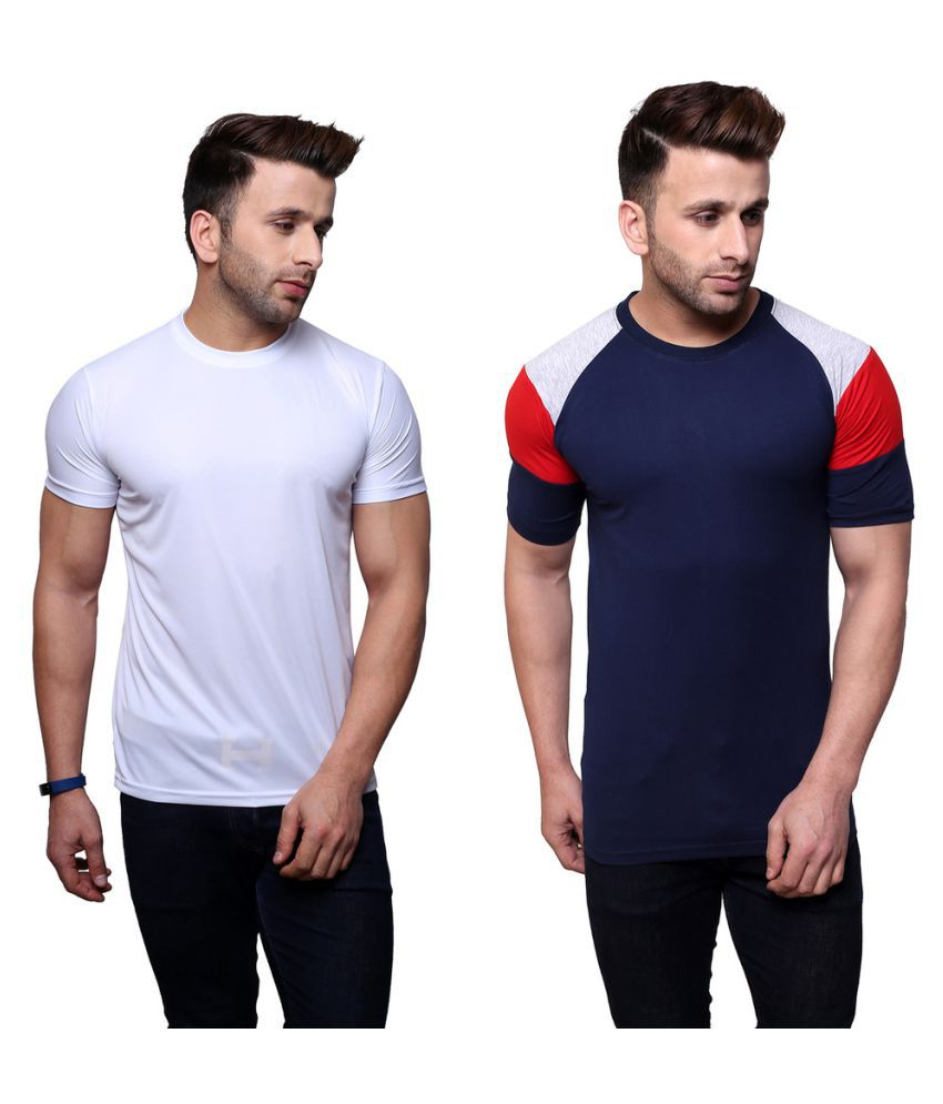 Color Opera Kreation Multi Round T-Shirt Pack of 2