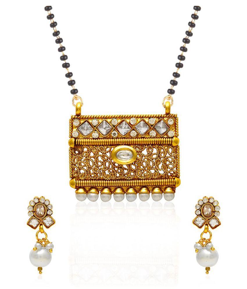 Jewels Galaxy Elegant American Diamond Mangalsutra Set
