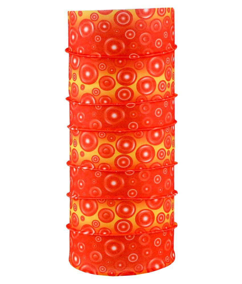 Autofy Orange Printed Polyester Headwraps