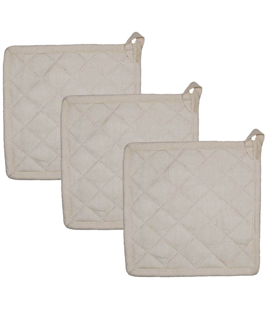 Airwill Cotton Kitchen Cotton Oven Pot Holders - Pack of 3