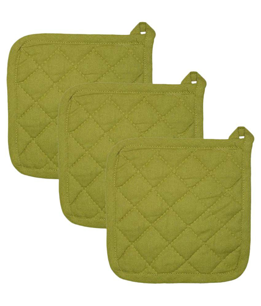 Airwill Cotton Kitchen Linen Oven Pot Holders - Pack of 3