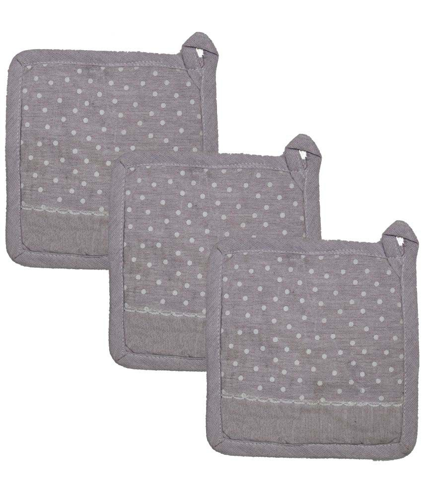 Airwill Gray Oven Pot Holders - Pack of 3 Pcs