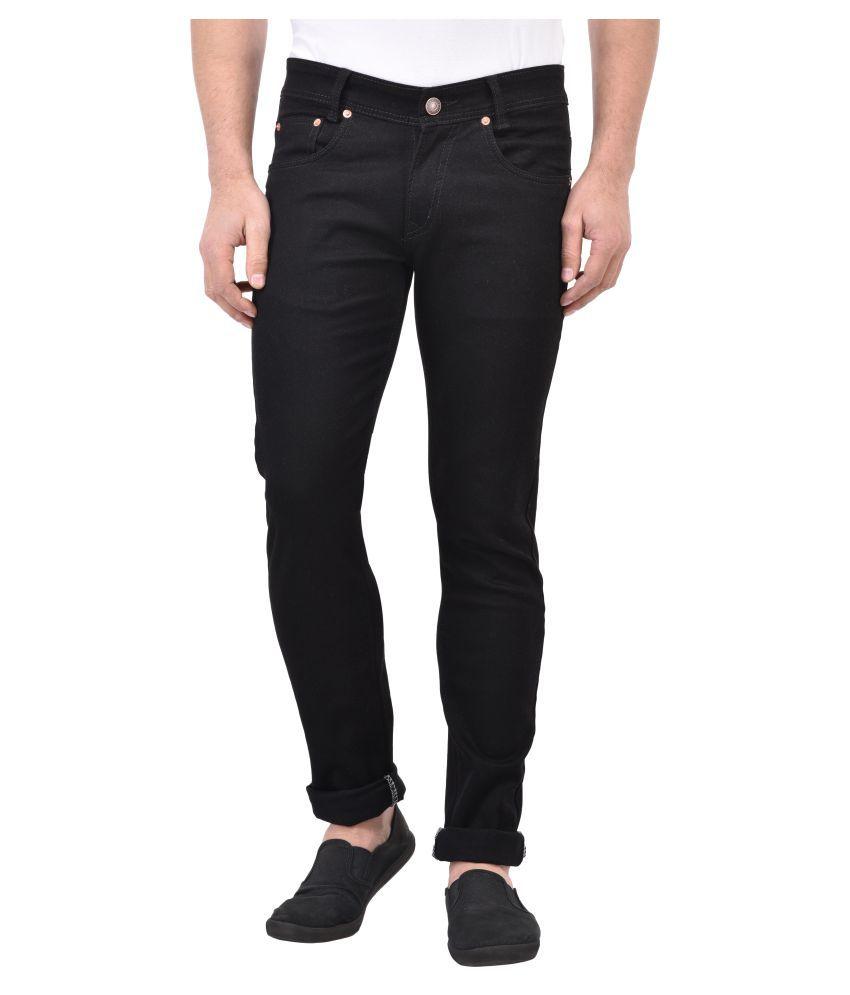 Denzor Black Relaxed Jeans