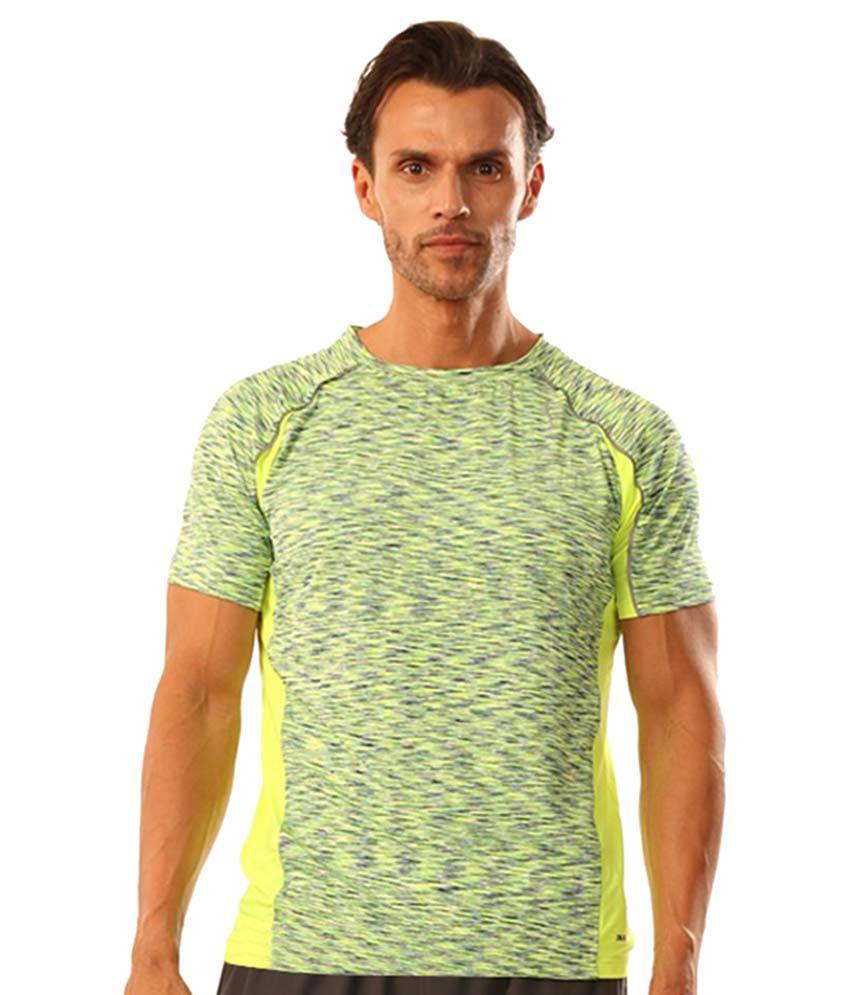 Dive Green Polyester Lycra T Shirt