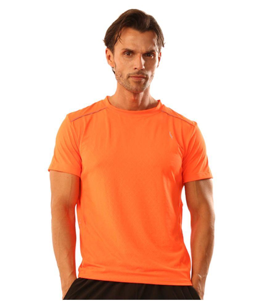 Dive Orange Polyester Lycra T Shirt