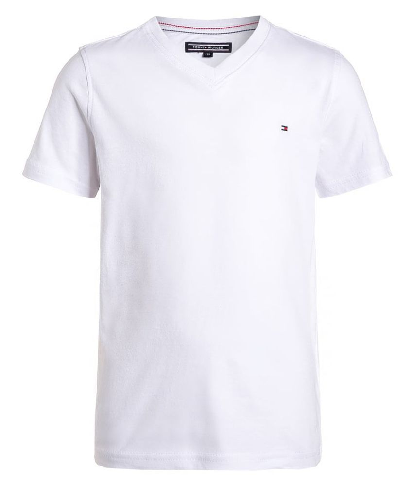 63db5ecfae86 Tommy Hilfiger White T- Shirt - Buy Tommy Hilfiger White T- Shirt Online at  Low Price - Snapdeal
