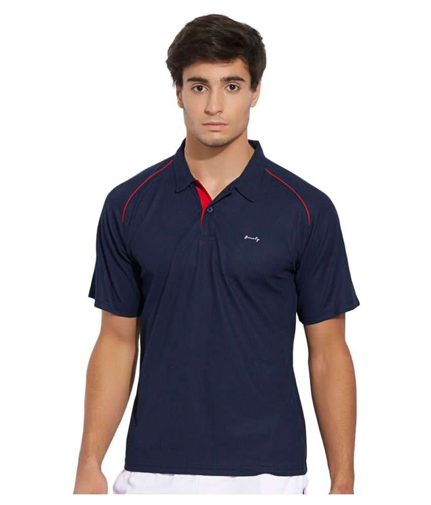 Bonaty Navy Polyester Polo T-Shirt Single Pack