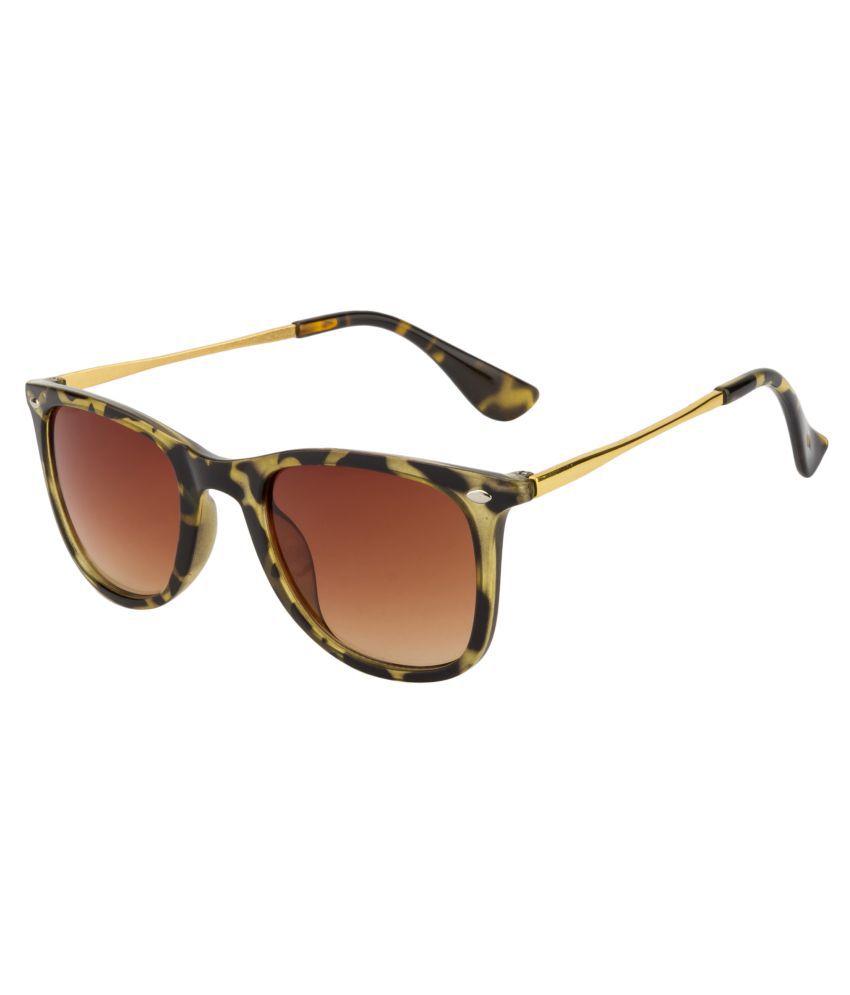 Fair-X Brown Wayfarer Sunglasses ( ZR4457 )