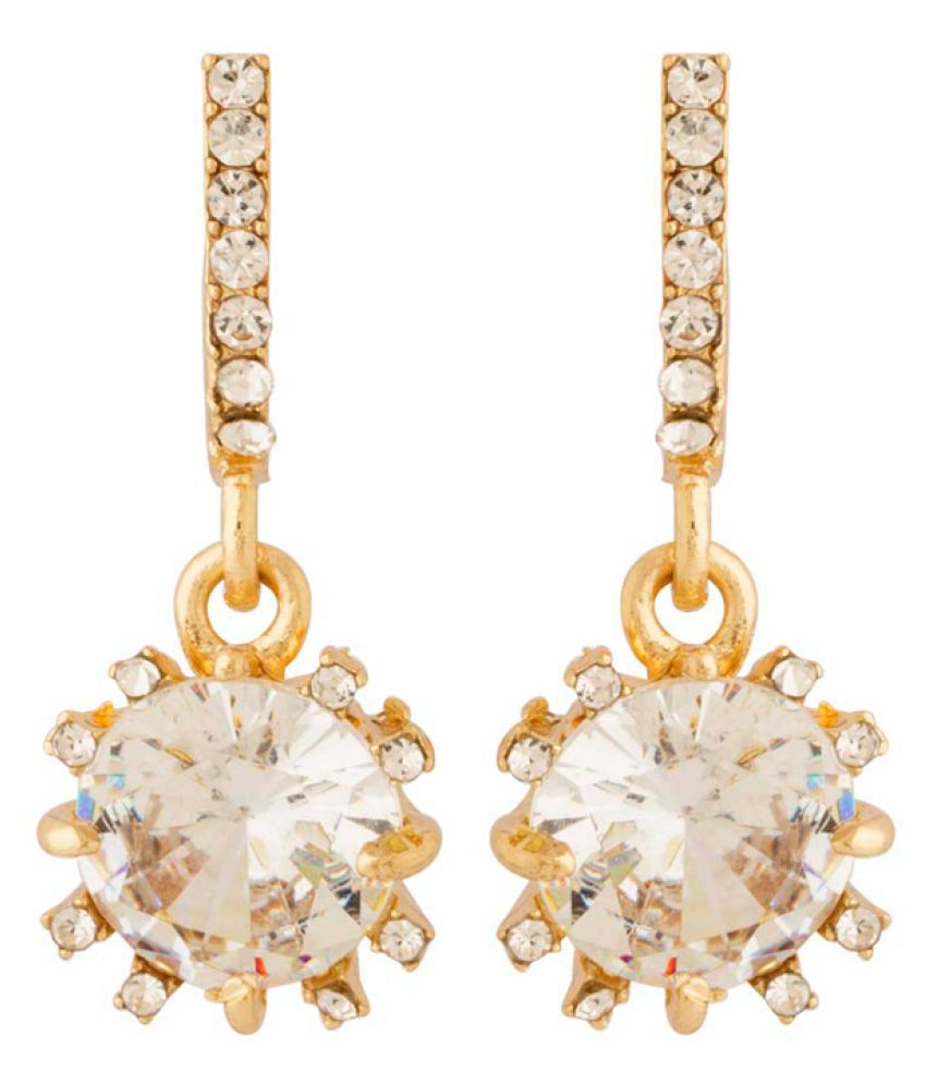 Voylla Golden Drop Earrings