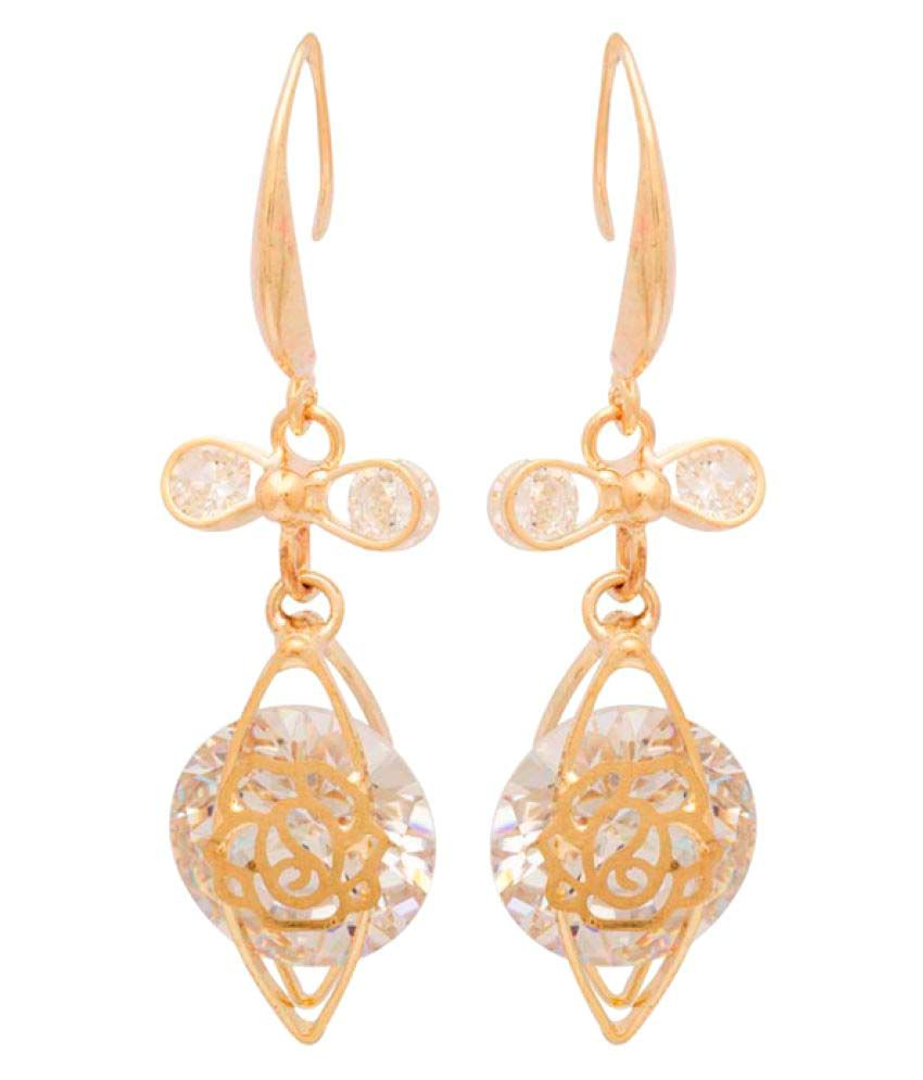 Voylla Women's Hanging Earrings In Flash Gold