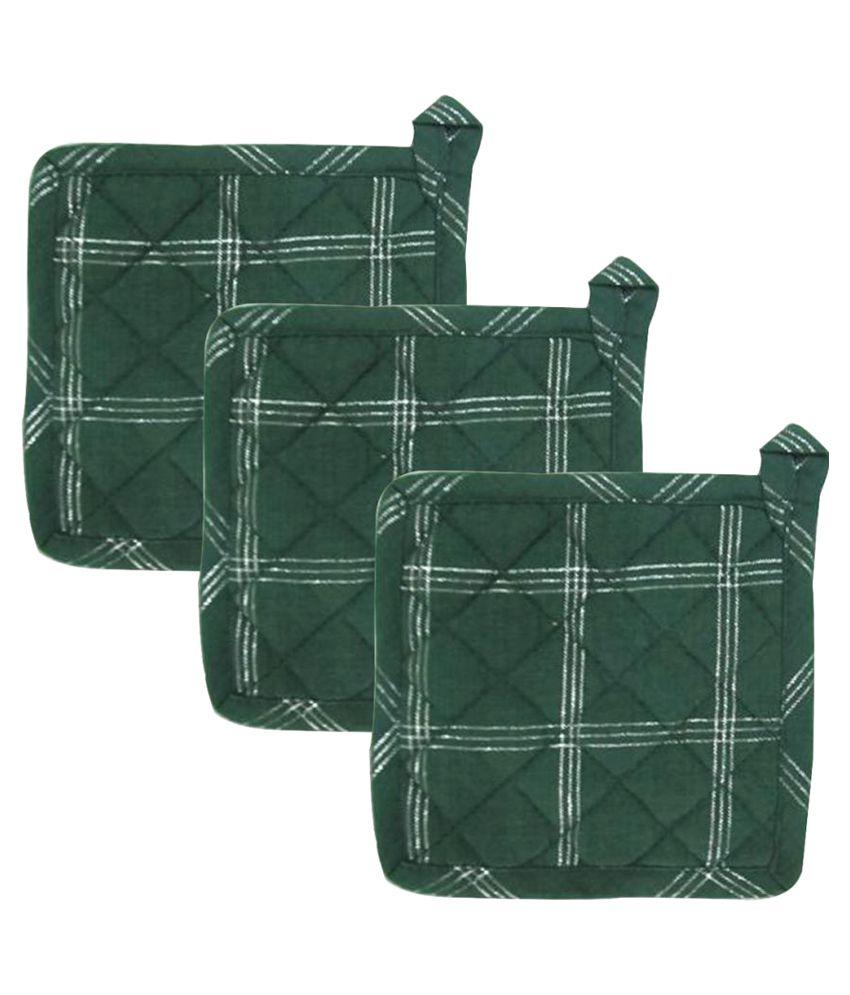 Airwill Cotton Designer Kitchen Pot Holders - Pack of 3