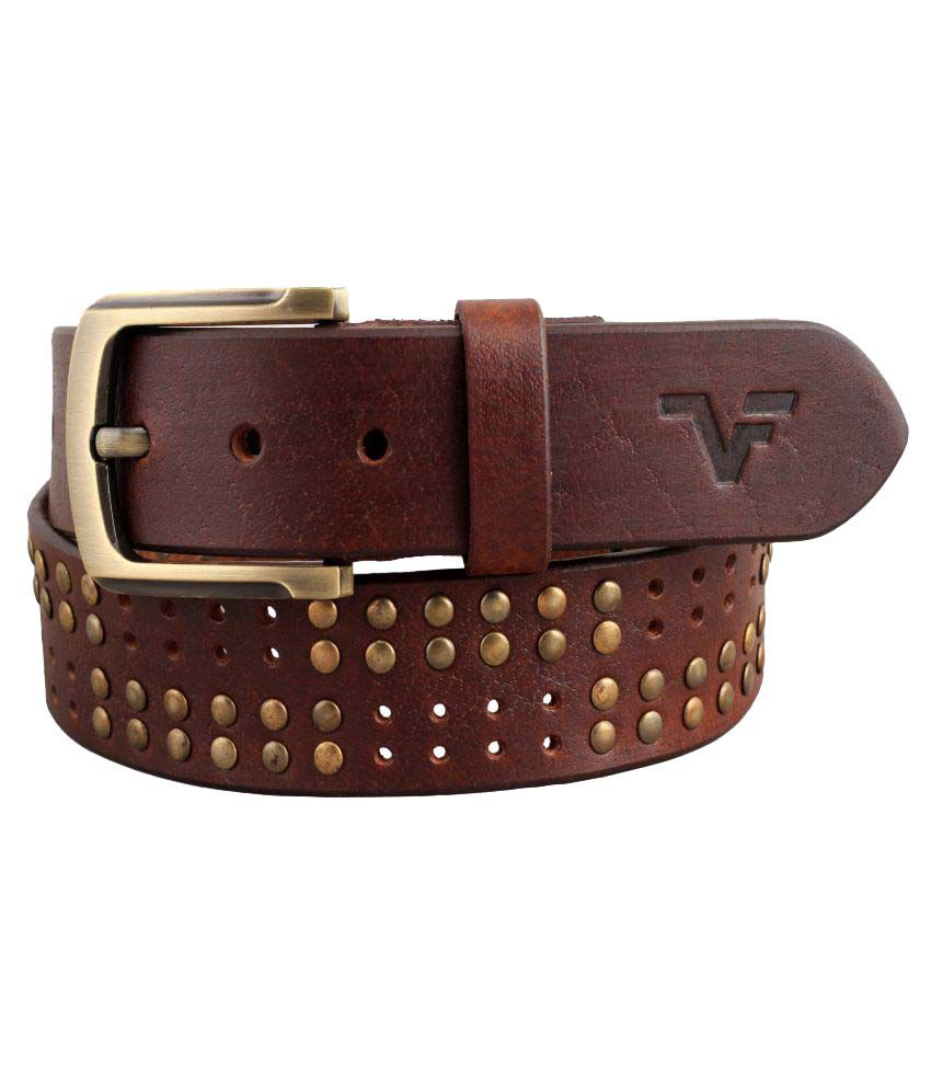 Vener Fabica Brown Leather Casual Belt