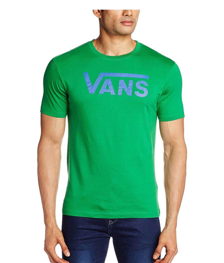 Vans Green Cotton T-Shirt Single Pack