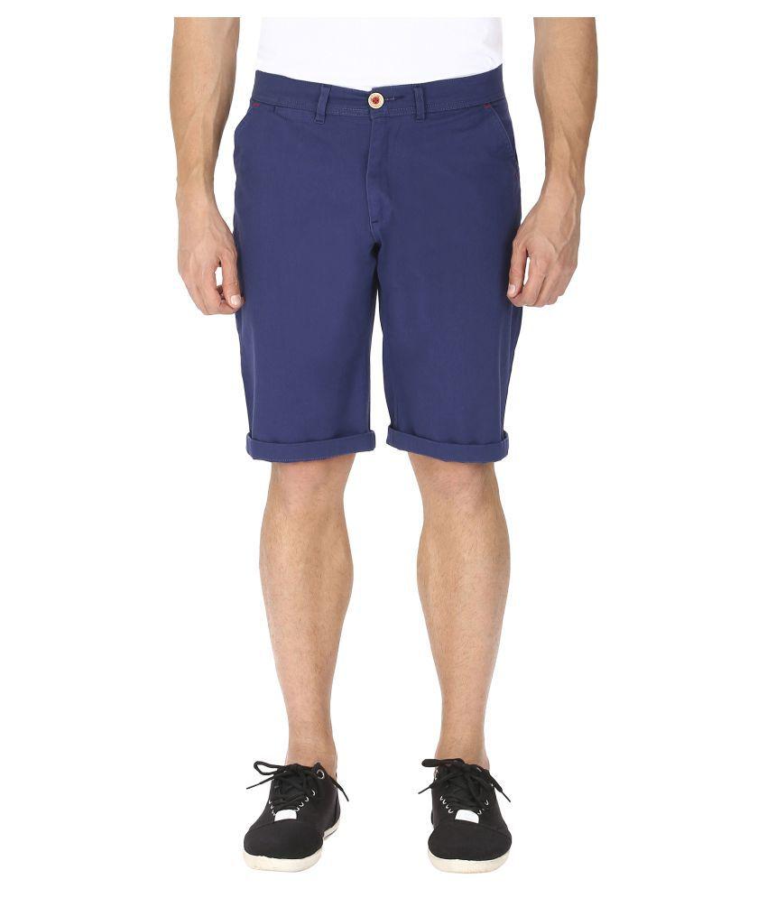 Ebony & Ivory Blue Shorts