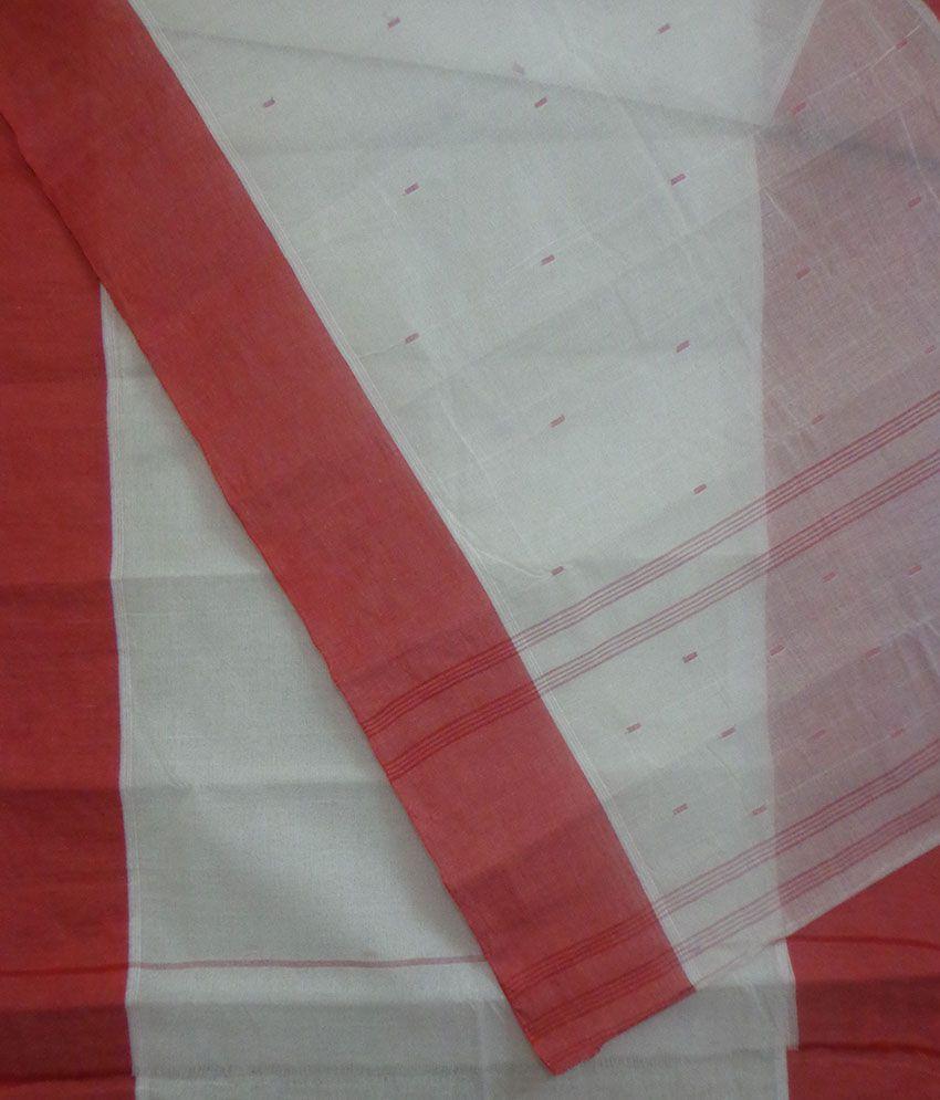 19ad007b4cb Odisha Saree Store Red and Grey Cotton Saree - Buy Odisha Saree ...