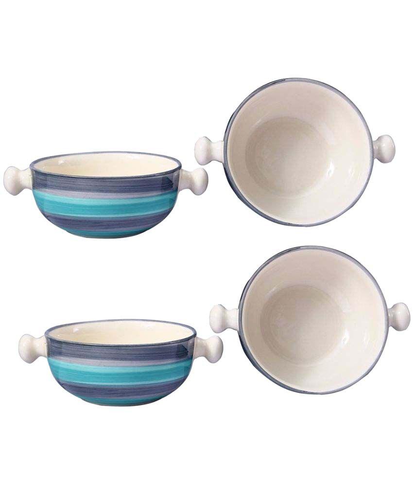 Caffeine 4 Pcs Ceramic Snacks Bowl 370 ml