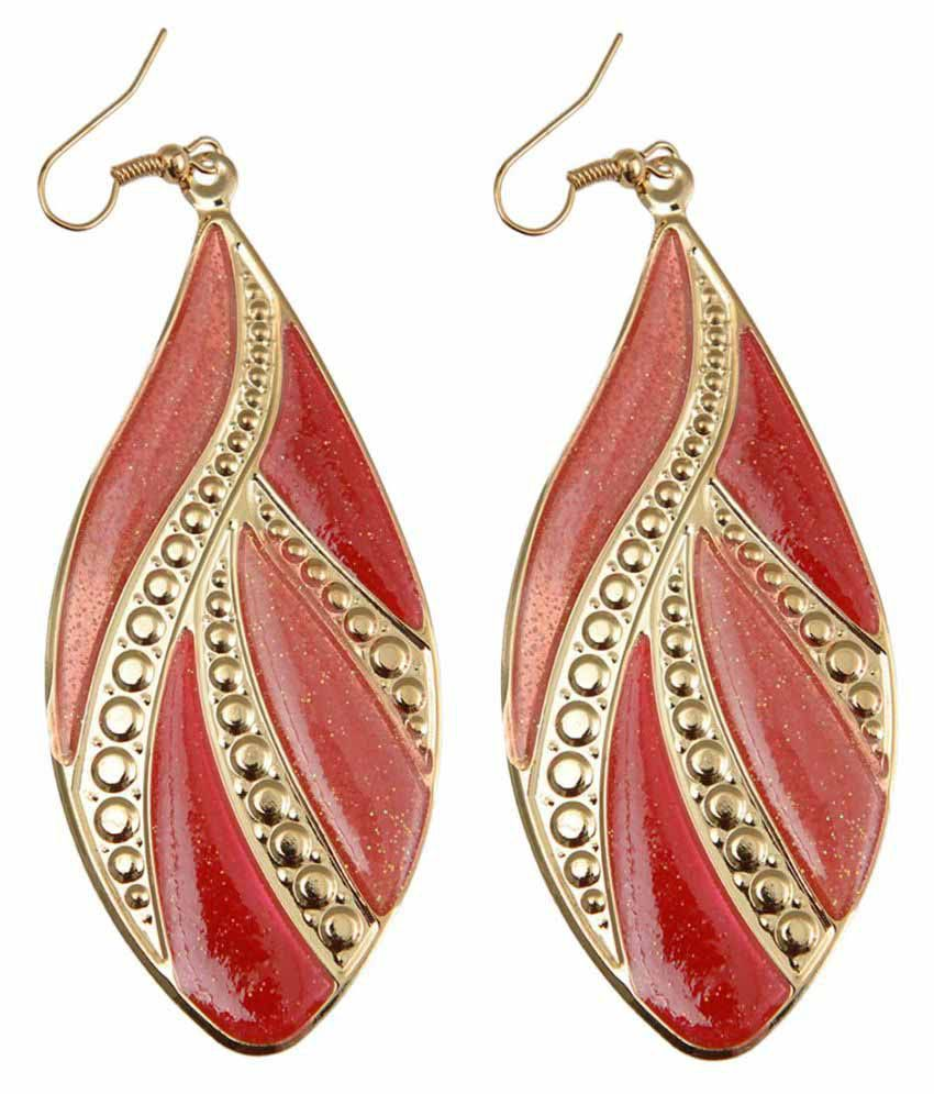 Taj Pearl Designer Office Wear Hanging Earrings