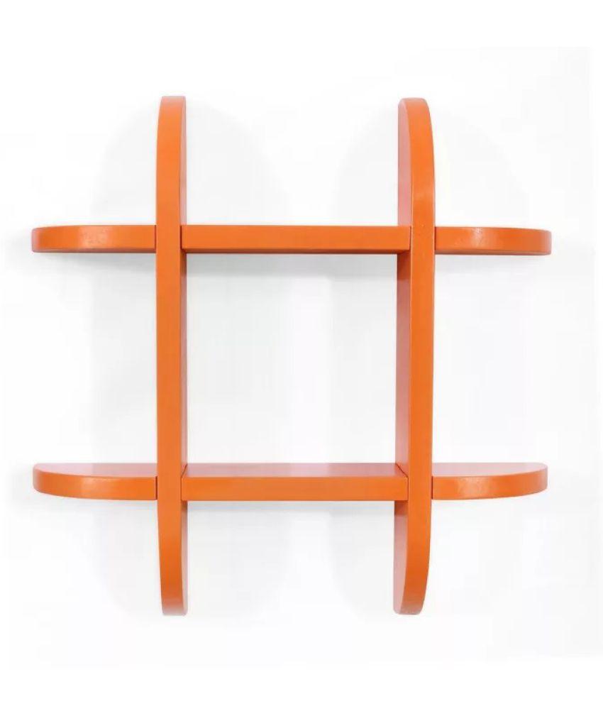 Onlineshoppee Floating Shelf/ Wall Shelf / Storage Shelf/ Decoration Shelf Orange Single