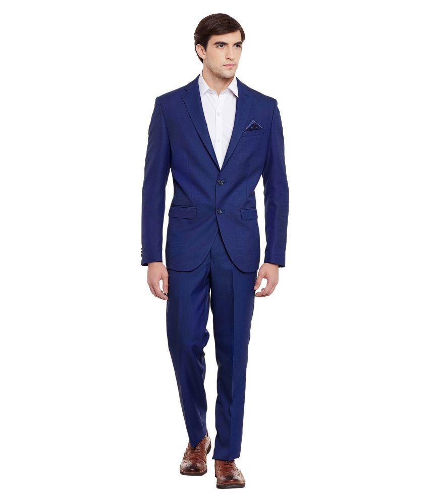 Envoy Blue Plain Casual Suit