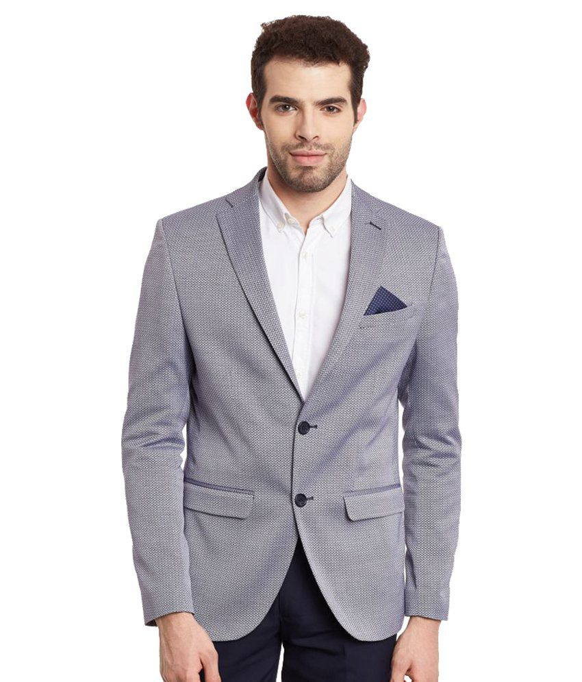 Envoy Grey Plain Casual Blazers