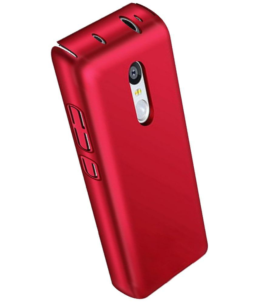save off 9dce2 af84a Xiaomi Redmi Note 4 Plain Cases BuyFeb - Red