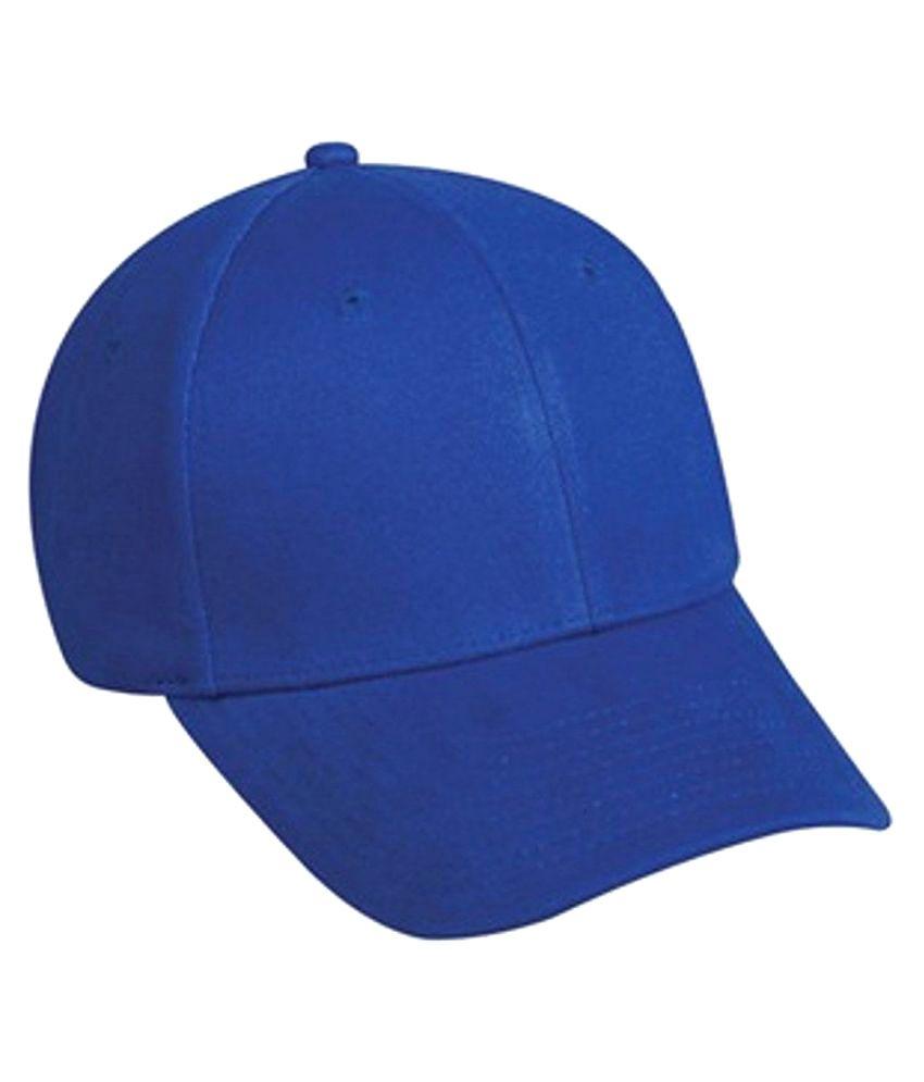 Kylon Blue Plain Cotton Caps