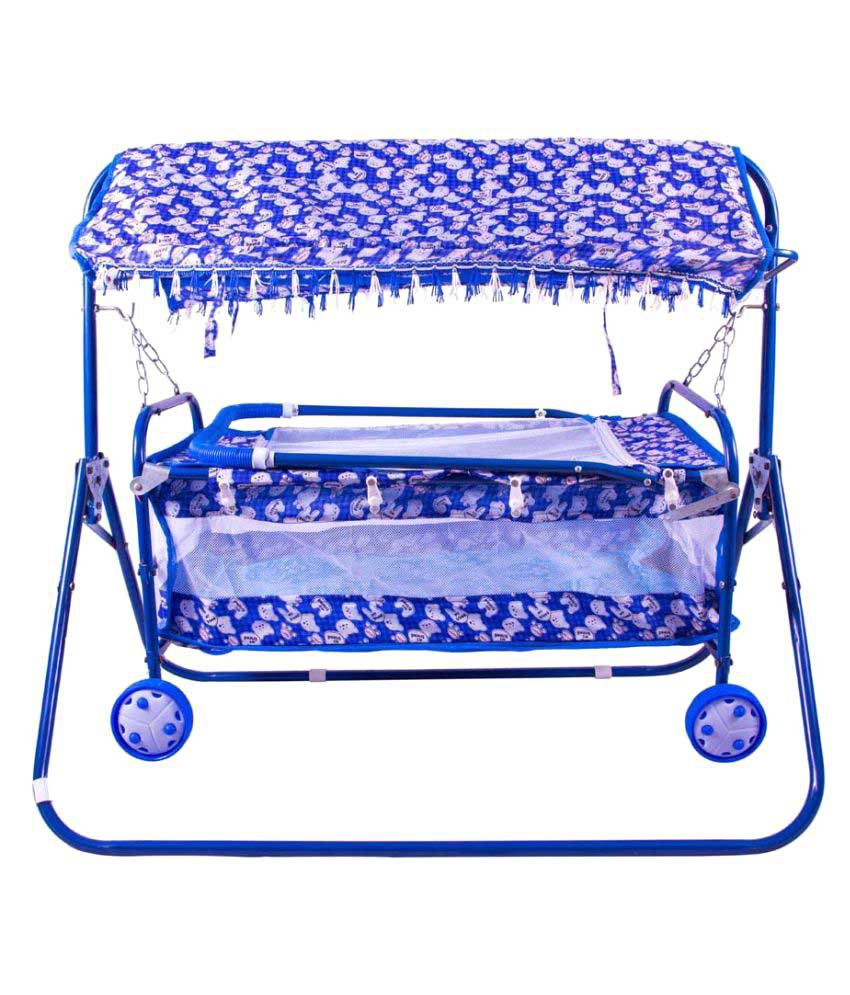 A And Products Blue Baby Cradle