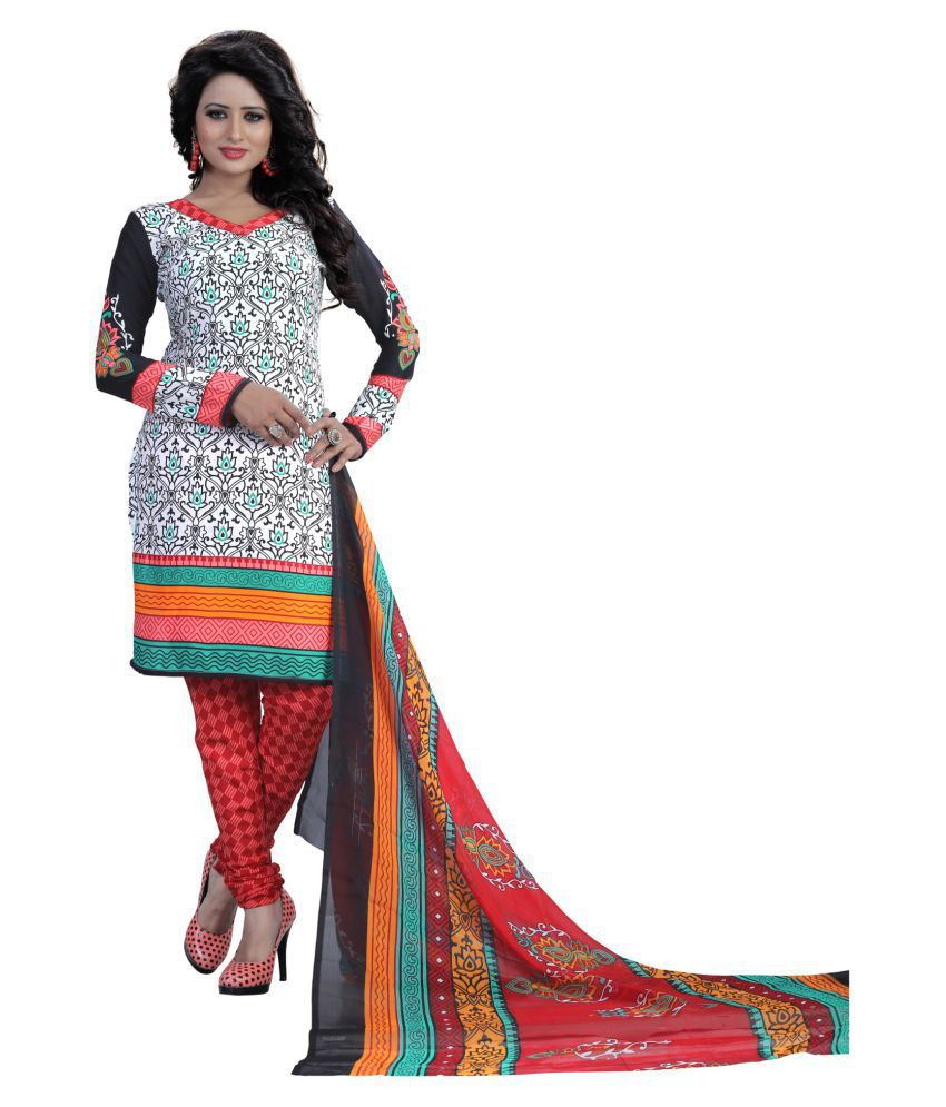 Prabhat Silk Mills Multicoloured Polyester Dress Material