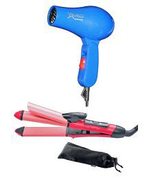 Nucleair Combo Pack Hair Straightener And Hair Dryer ( Blue )