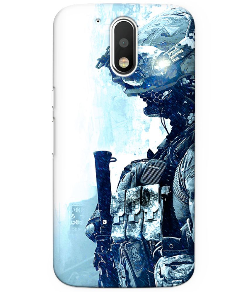 Moto G4 Printed Cover By CRAZYINK
