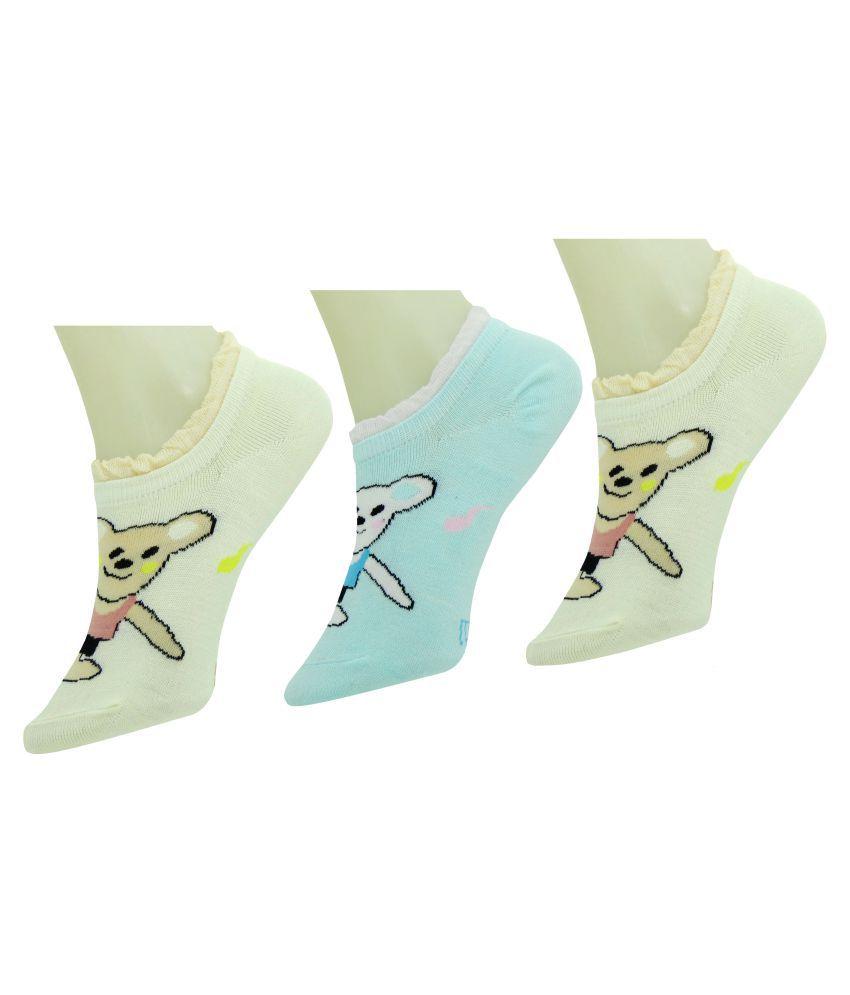Neska Moda Multicolour Cotton Sock - Pack of 3