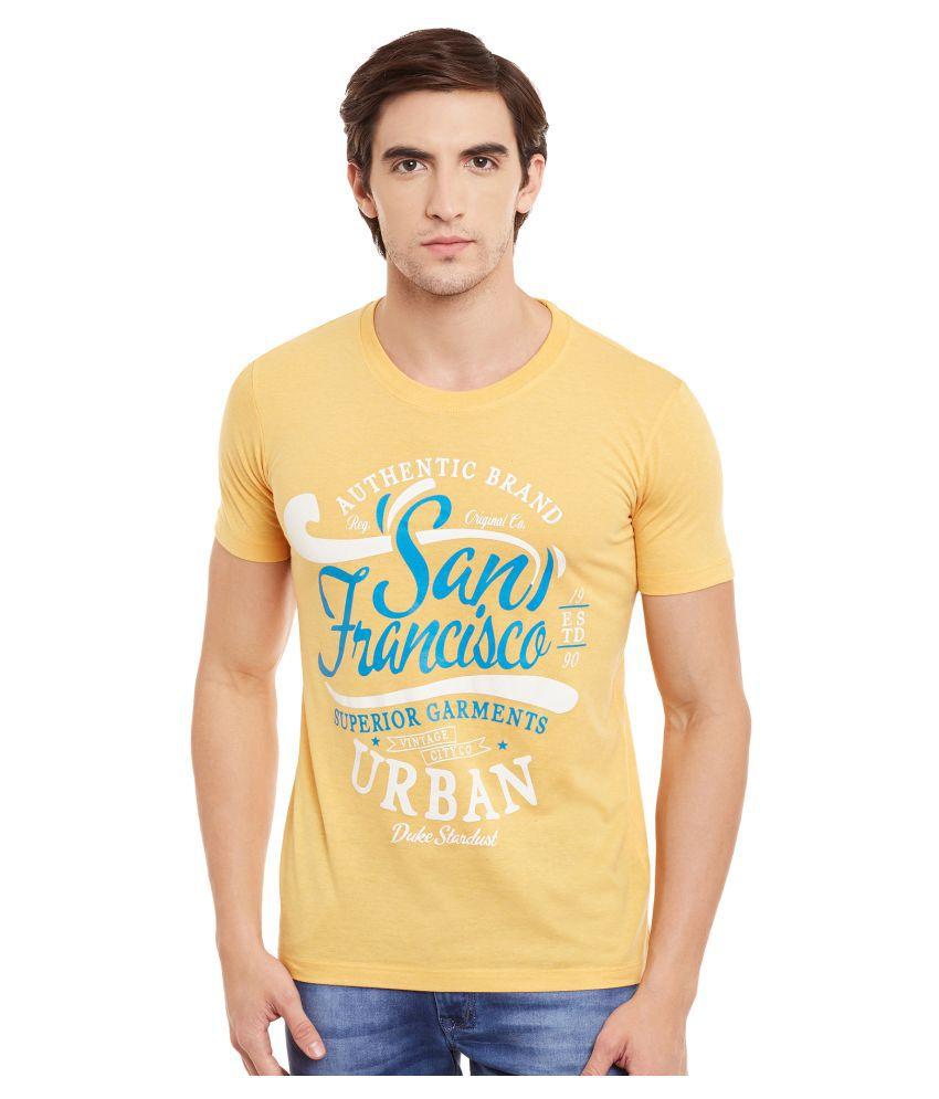 Duke Yellow Round T-Shirt