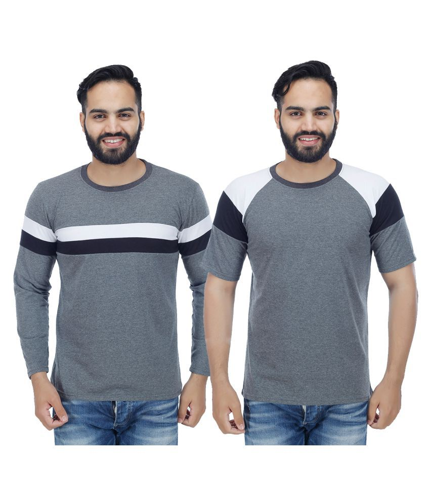 Christy World Grey Round T-Shirt Pack of 2
