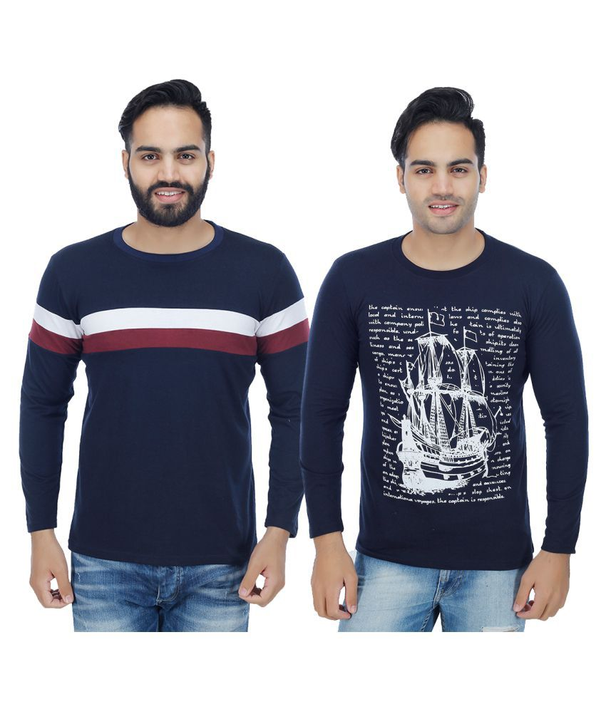 Christy World Navy Round T-Shirt Pack of 2