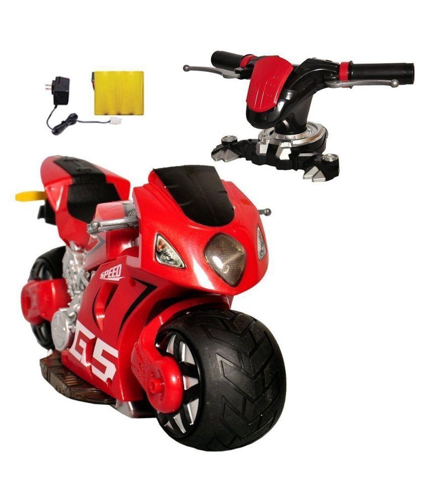Kris Toys Remote Control Racing Bike with Steering Handle ...