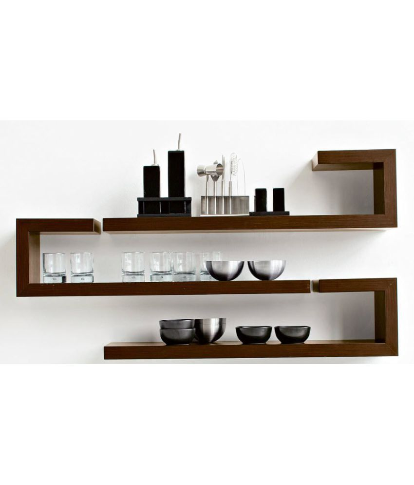 Skwood wood utility wall shelf brown set of 3 buy skwood wood skwood wood utility wall shelf brown set of 3 amipublicfo Gallery