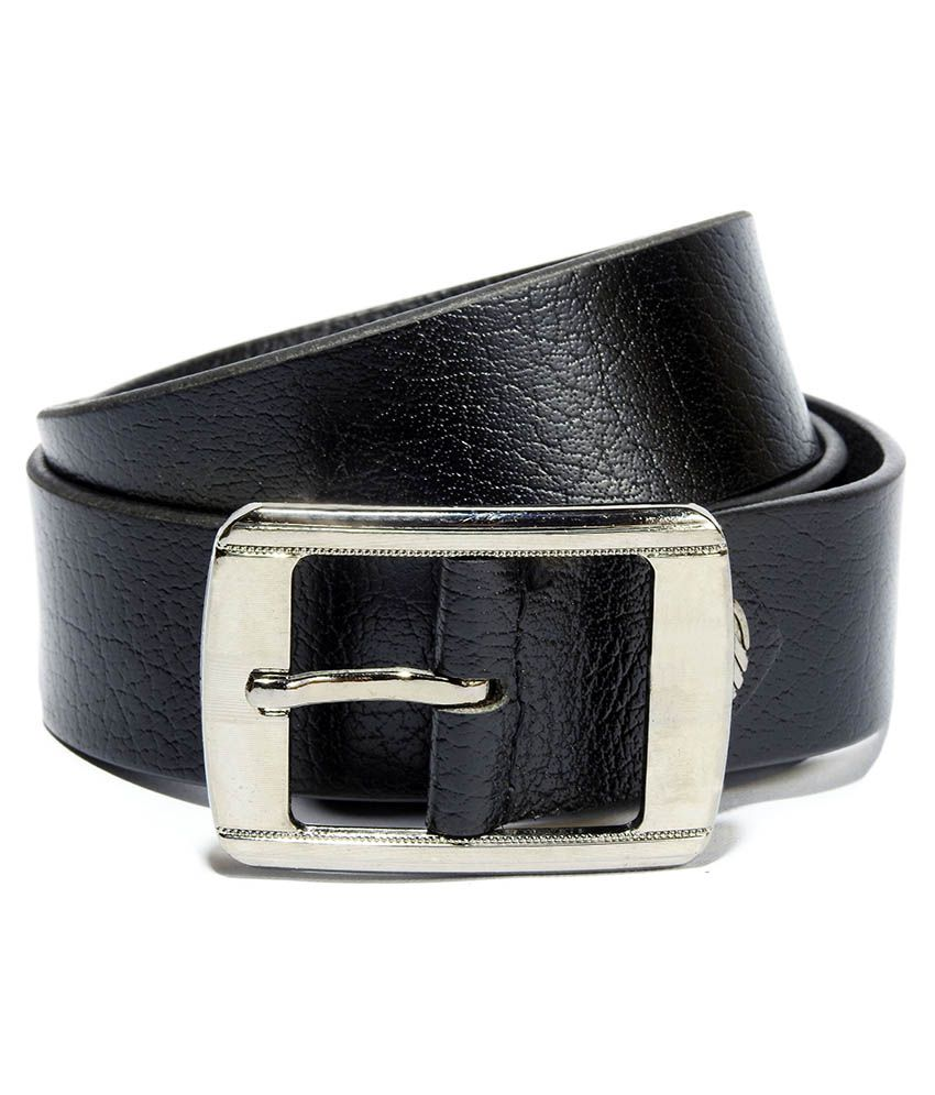 Vogard Black Leather Casual Belts