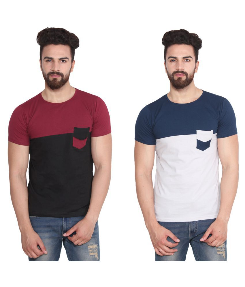 Vrgin Multi Round T-Shirt Pack of 2