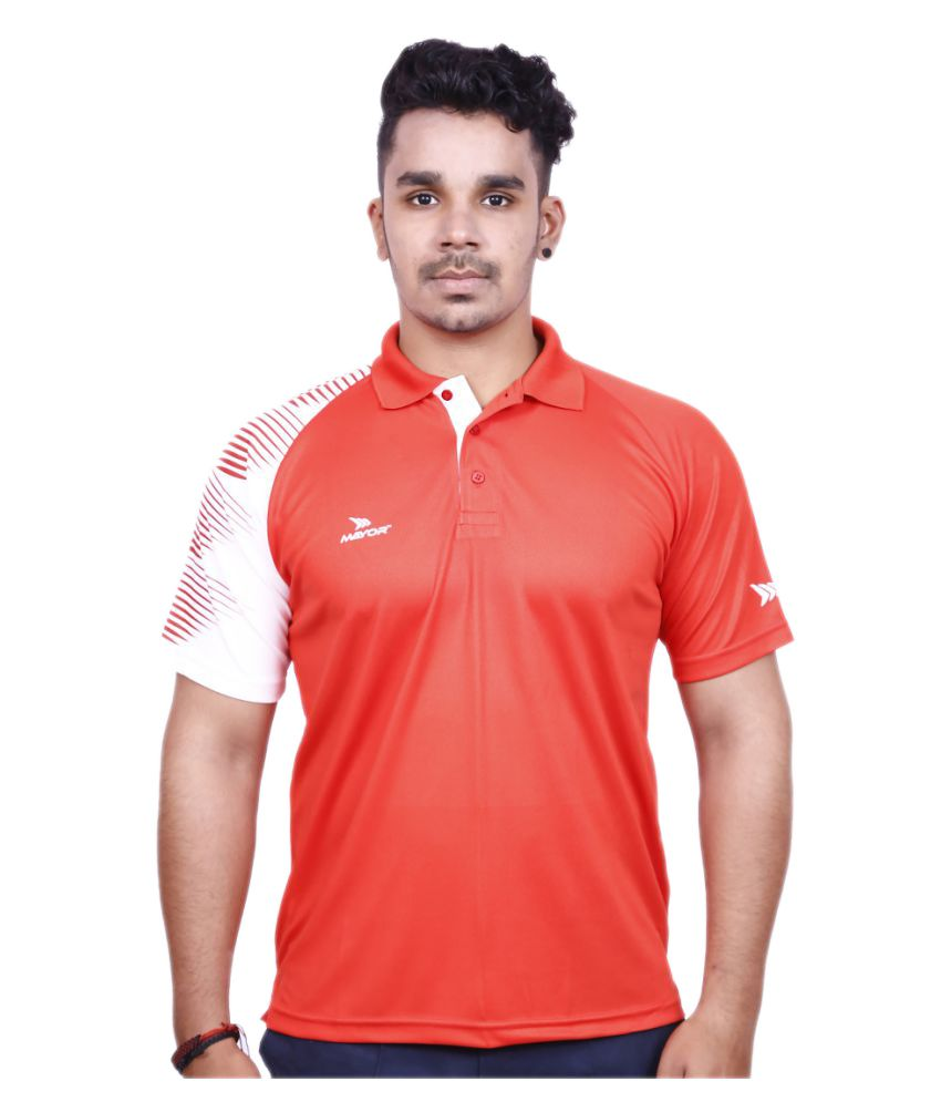 Mayor Red Polyester Polo T-shirt