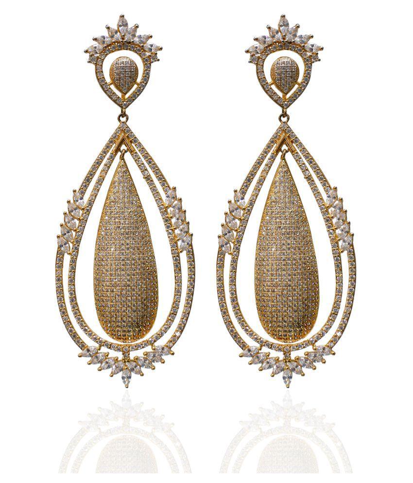 Saheli Art Jewellery Golden Hanging Earring
