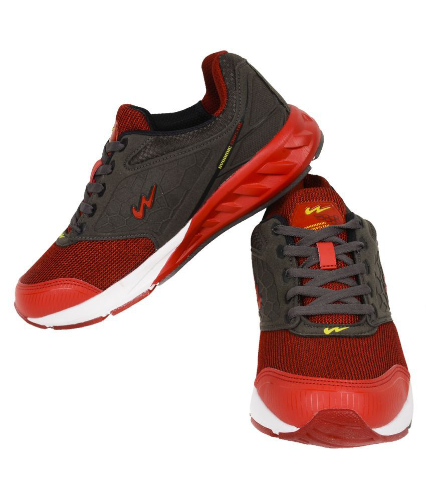 Campus CRYSTAL Red Running Shoes