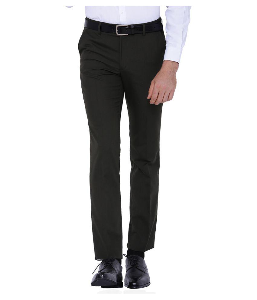 Black Coffee Black Regular Flat Trousers