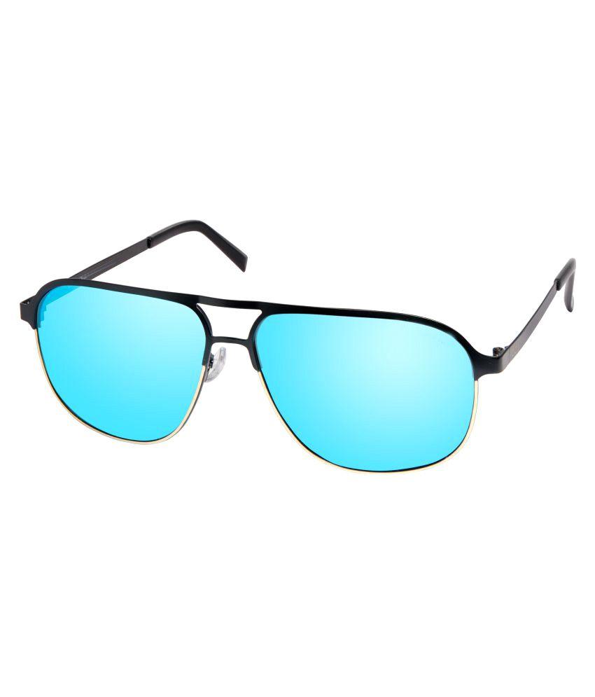 David Blake Blue Aviator Sunglasses ( 3004 )