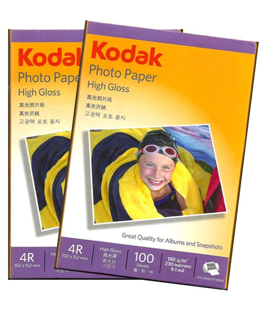 Kodak Photo Paper  Pack of 2