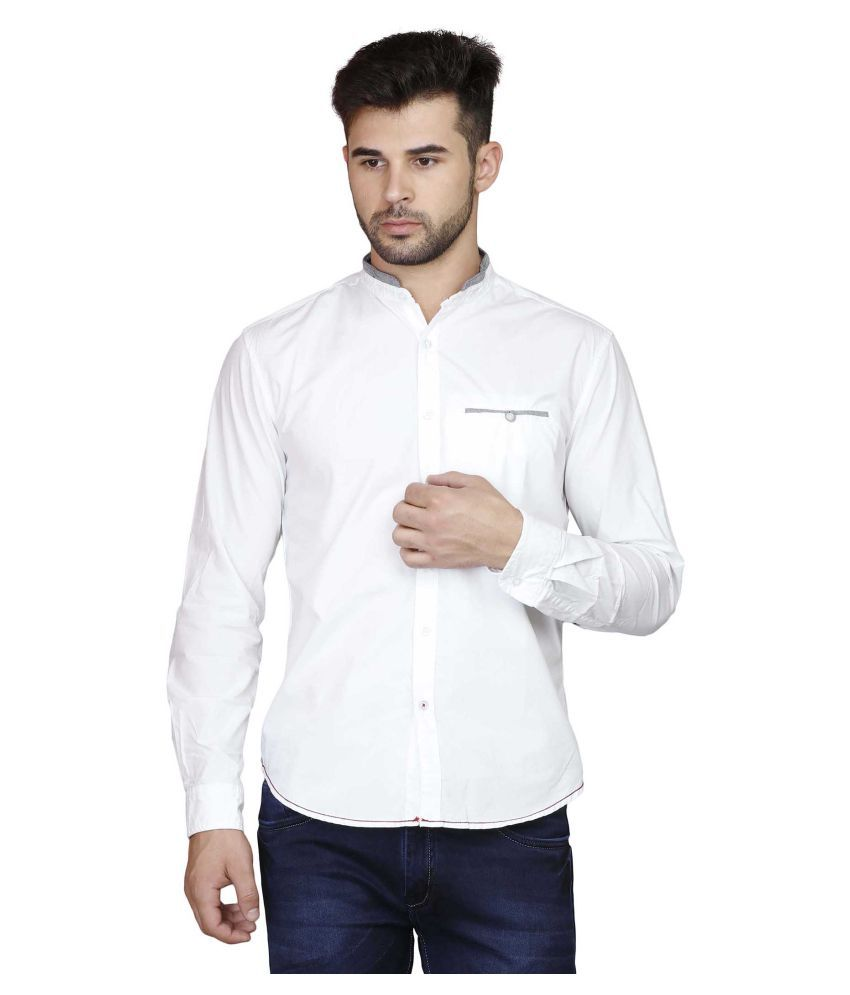 Showoff White Casuals Slim Fit Shirt