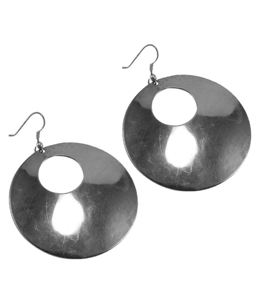 Silvesto India Silver Alloy Dangle Earrings PG-40861