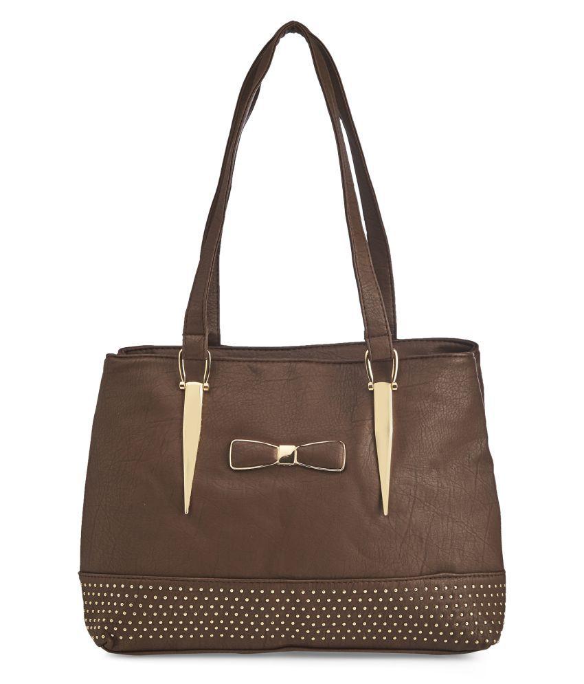 Vero Couture Brown P.U. Shoulder Bag