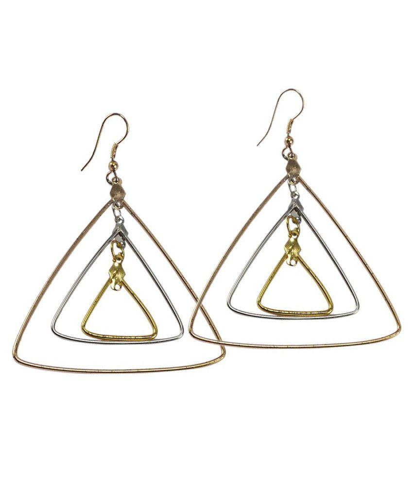 Silvesto India Golden Hanging Earring
