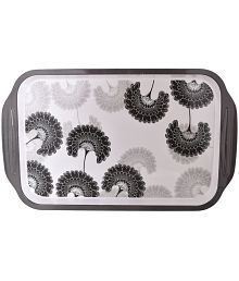 Truenow Ventures Melamine Rectangular Shape Printed Serving Tray - 670104271744