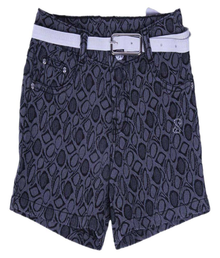 Girls Navy Colour Shorts